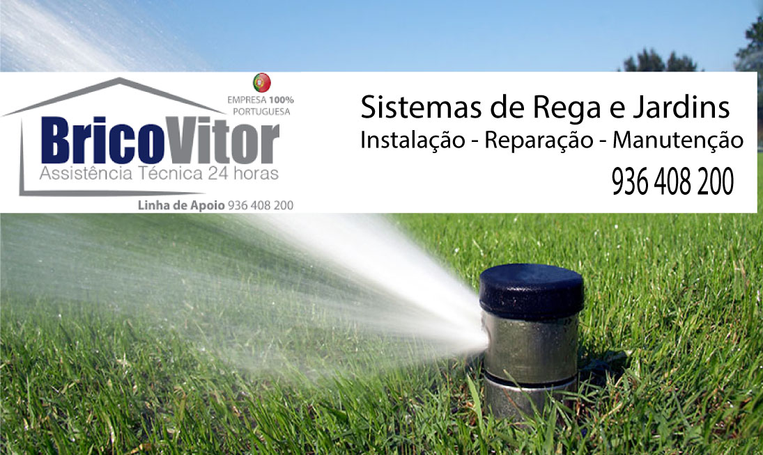 BricoVitor-sistema-de-rega-jardim Sistemas de Rega Caminha - Viana do Castelo