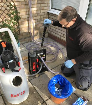 limpeza de aquecimento central